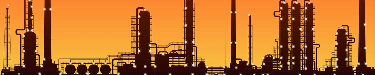 vector image of a chemical manufacturing plant